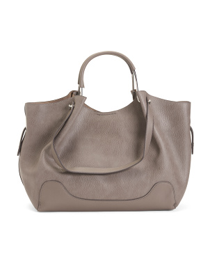 Large Shopper Tote With Removable Pouch