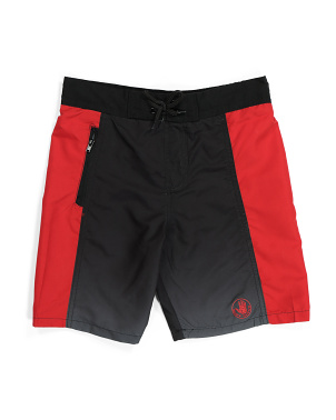 Big Boys Color Block Swim Trunks
