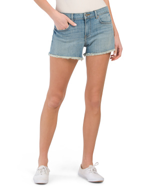 Cindy Fray Hem Boyfriend Shorts