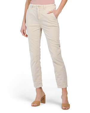 Fine Line Straight Cropped Pants