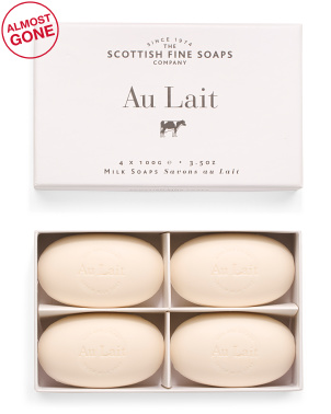 Set Of 4 3.5oz Au Lait Shea Soap Set