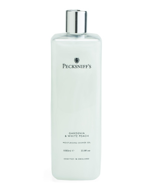33.8oz Gardenia & White Peach Shower Gel