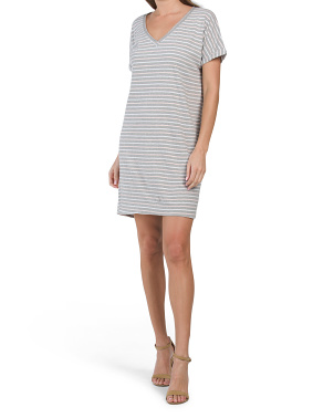 Made In Usa Cara V-neck Tee Dress