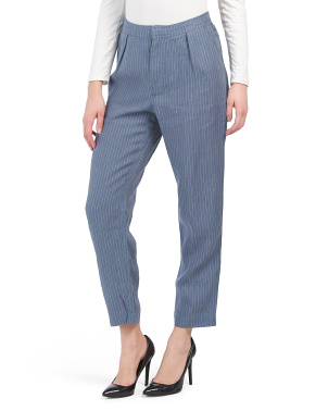 Linen Flynn Single Pleat Trousers