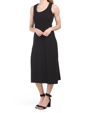 Irene Midi Scoop Neck Dress