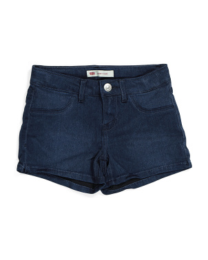 Big Girls Denim Shorty Shorts