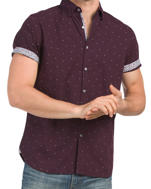 Polka Dot Short Sleeve Shirt
