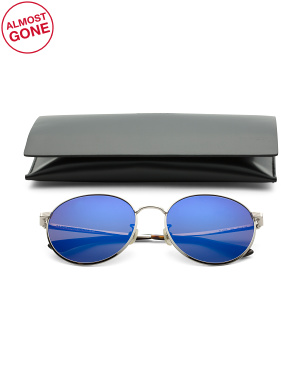 58mm Designer Round Sunglasses