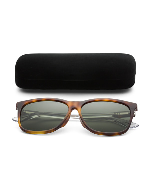 60mm Designer Tortoise Sunglasses