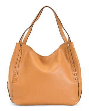 Made In Italy Leather Oversize Tote