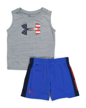 Toddler Boys 2pc Americana Icon Twist Tank And Short Set