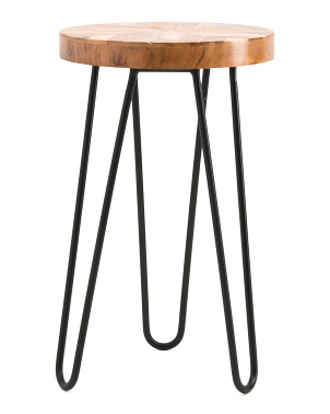 17in Wooden Top Plant Stand