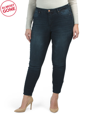Plus Curvy Fit High Rise Skinny Jeans