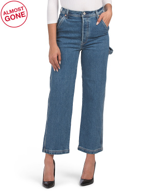 Juniors Ribcage Straight Ankle Utility Nine To Five Jeans