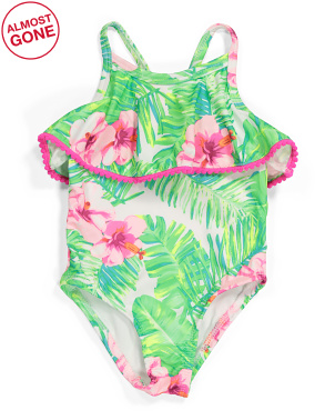 Toddler Girls One-piece Flounce Swimsuit
