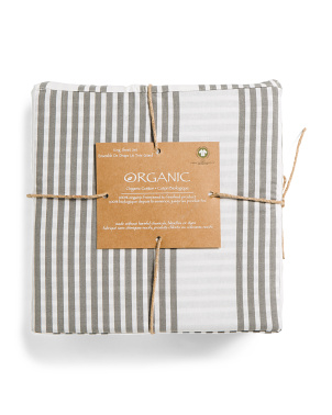 Organic Cotton Multi Stripe Sheet Set