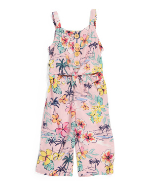 Toddler Girls Floral Jumpsuit