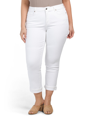 Plus Marilyn Clean Cuff Ankle Jeans
