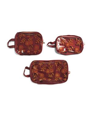 3pc Floral Packing Cubes
