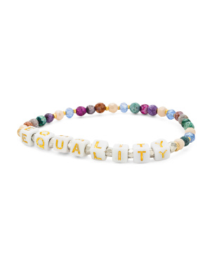 Handmade In Thailand Equality Beaded Stretch Bracelet