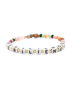 Handmade In Thailand Resilience Beaded Stretch Bracelet