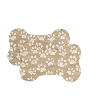 Set Of 2 Pixie Paw Pet Placemats