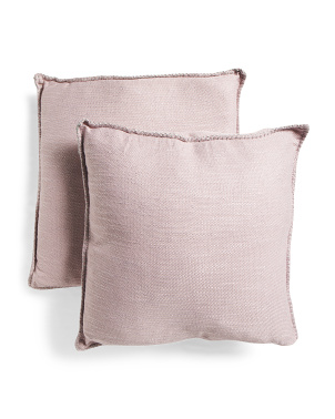 20x20 2pk Metallic Whipstitch Pillow Set