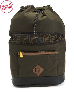 Made In Italy Logo Nylon Dolmias Backpack