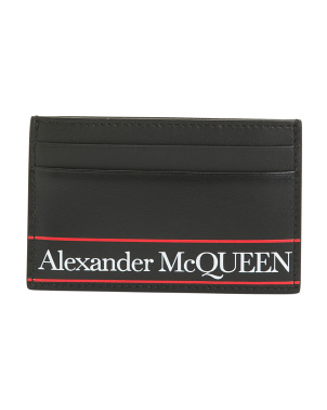 Made In Italy Logo Leather Cardholder