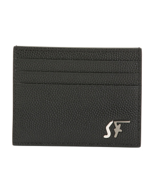 Made In Italy Signature Leather Card Holder