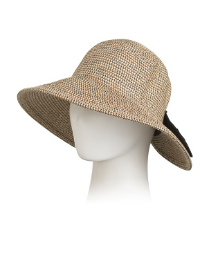 Made In Italy Sunsaver Hat With Bow