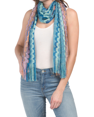 Made In Italy Shimmer Stripe Stole