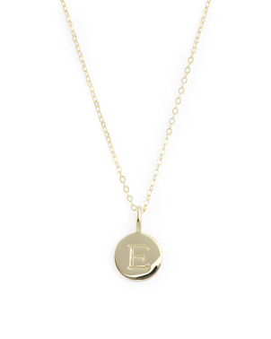 14k Gold Plated Sterling Silver Initial Necklace
