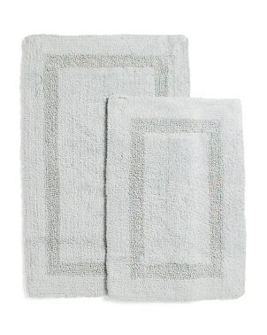 2pk Multi Border Bath Mats