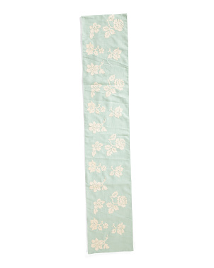 14x72 Egret Rylee Floral Embroidered Clark Runner