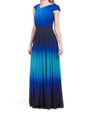 Cap Sleeve Ombre Gown