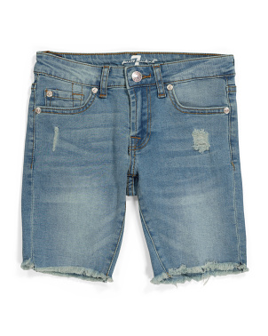 Big Girls Raw Edge Denim Shorts