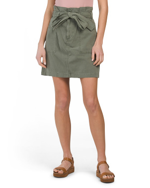 Paper Bag With Tie Utility Skirt