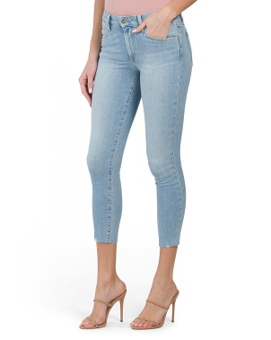 The Icon Cropped Jeans With Cut Hem