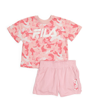 Toddler Girls 2pc Printed Short Set