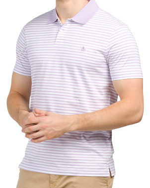 Simple Stripe Knit Polo