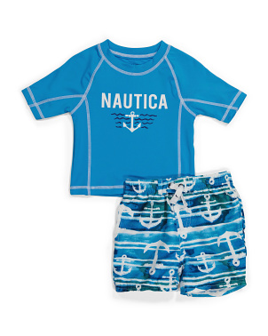 Toddler Boy 2pc Rash Guard Swim Set