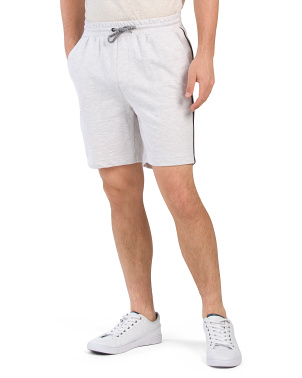 French Terry Shorts With Piping