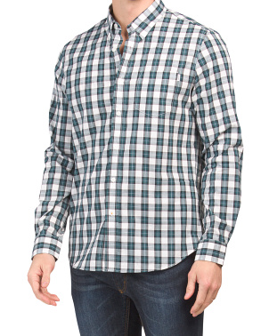 Long Sleeve Check Button Down Shirt