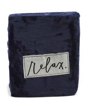 Relax Solid Plush Blanket