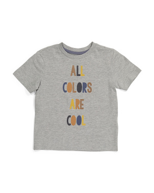 Boys All Colors Are Cool Inclusivity Tee