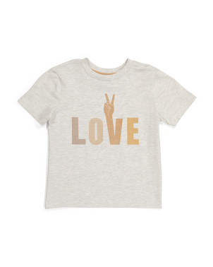 Boys Inclusivity Peace And Love Tee