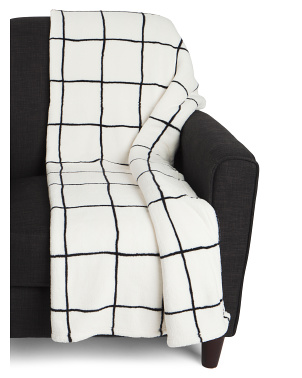 Joanna Grid Printed Loft Decorative Throw