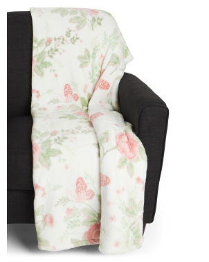 Caroline Floral Loft  Decorative Throw