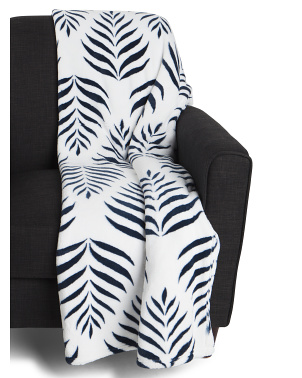 Denise Paisley Leaf Printed Loft Decorative Throw